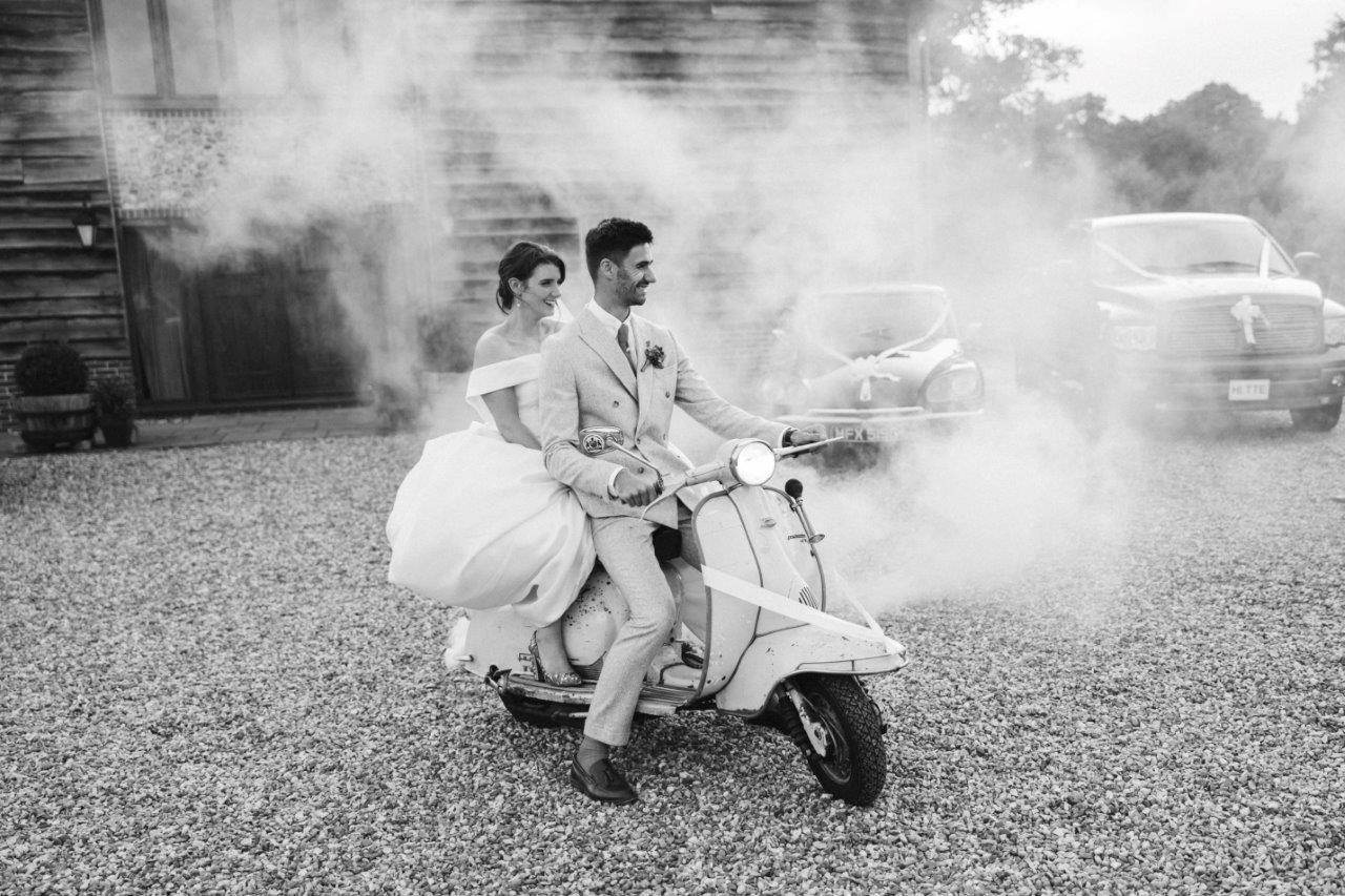 Wedding inspiration scooter moped